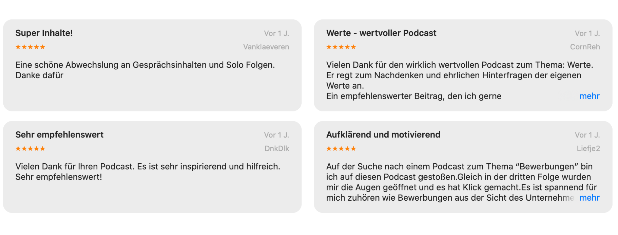 Podcast Bewertung iTunes